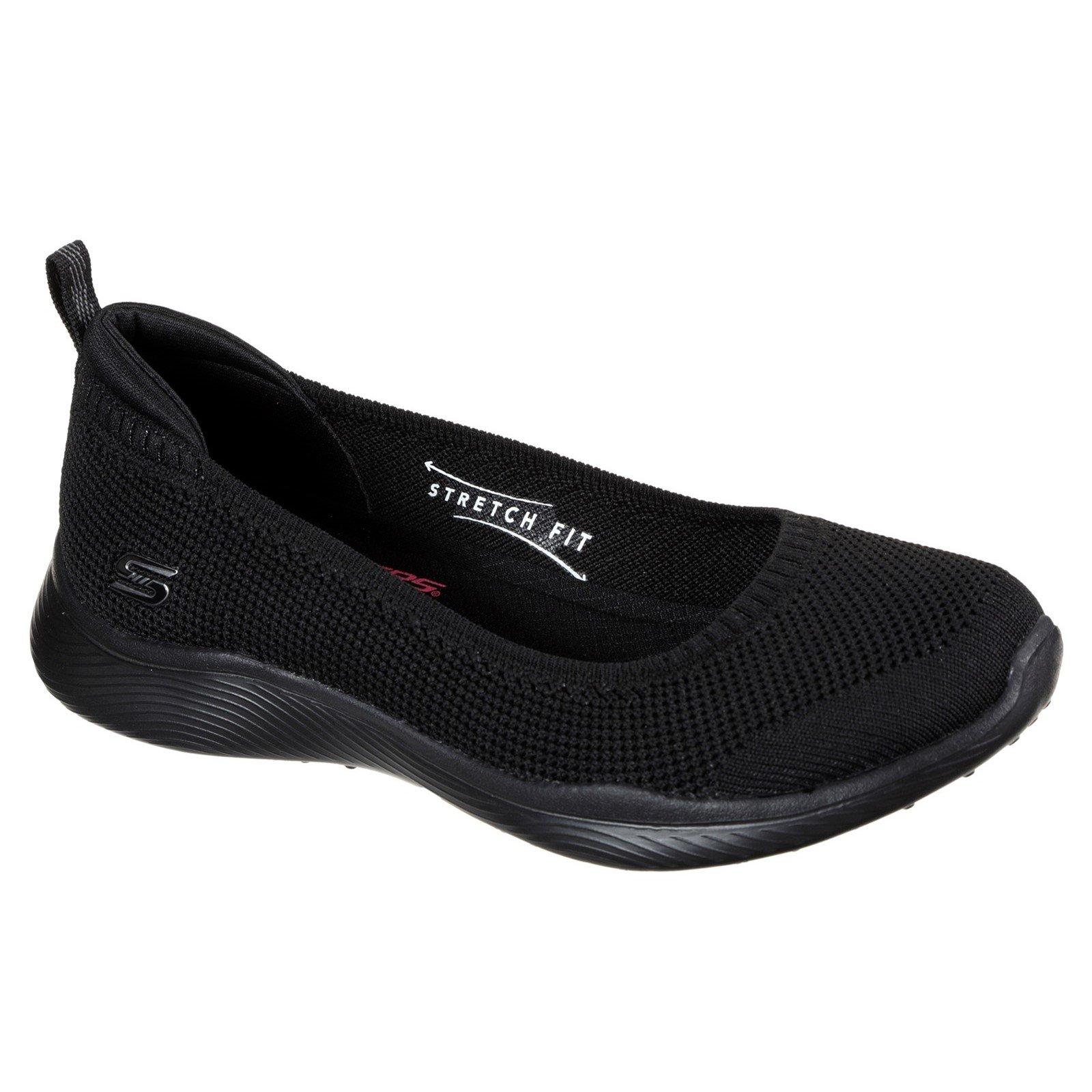 Skechers Women's Microburst 2.0 Be Iconic Wide Trainer Black 33069 - Black 5
