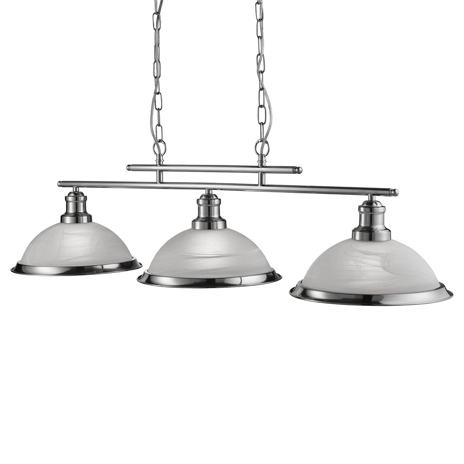 Hengelampe Bistro, 3 lyskilde, sølv