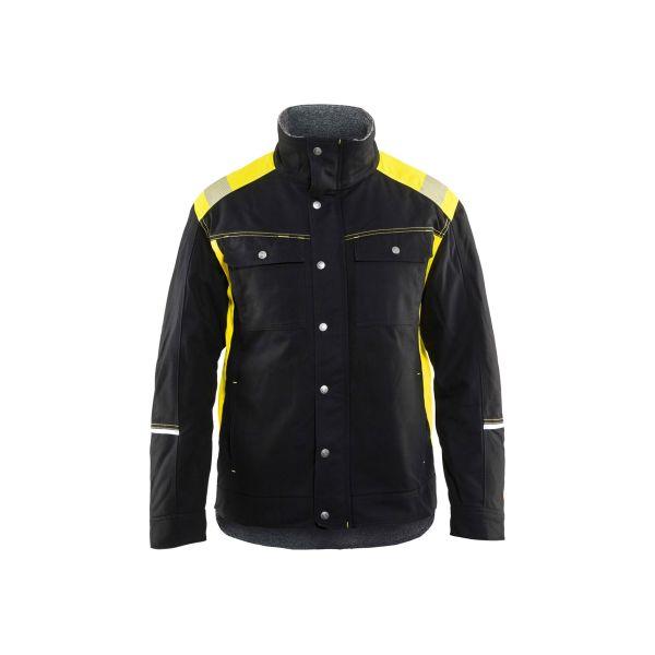 Blåkläder 491513709933XS Vinterjacka svart/varselgul, hantverksjacka Stl XS