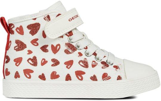 Geox Ciak Sneaker, White/Red 25