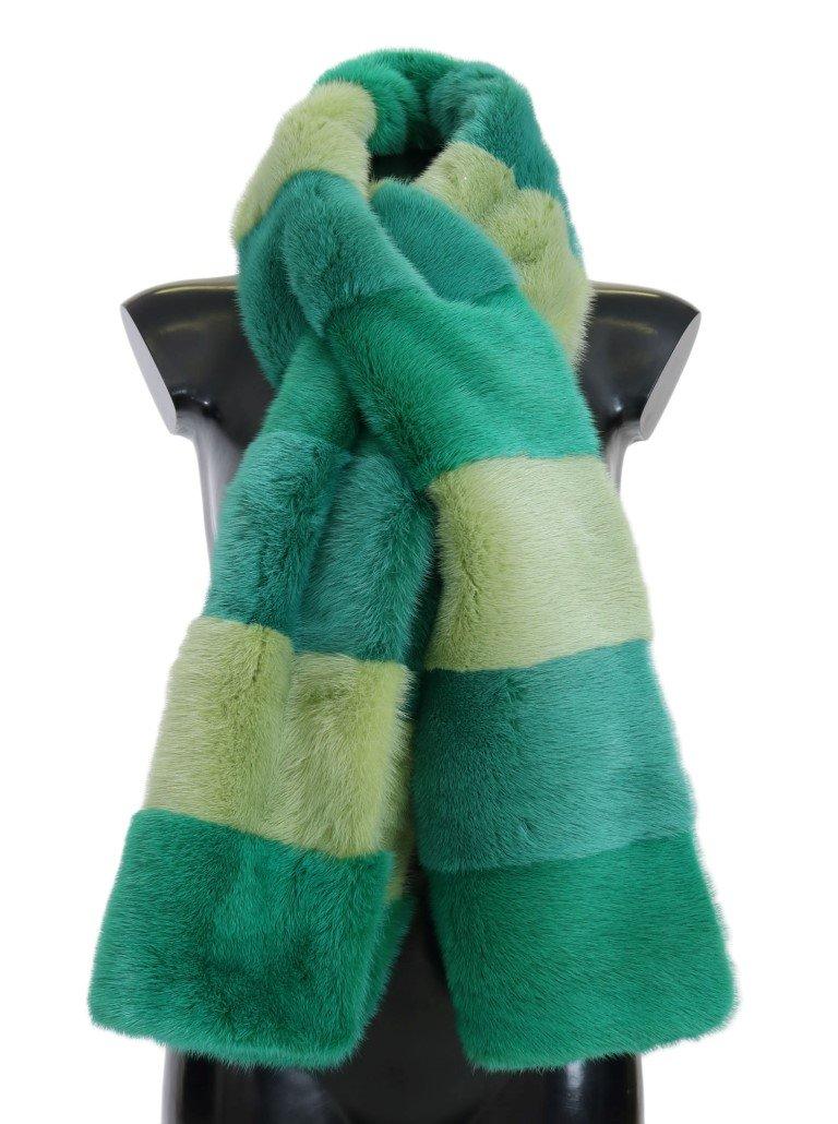 Dolce & Gabbana Women's Mink Fur Scarf Green MS1874