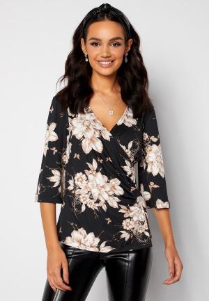 Happy Holly Simone kimono sleeve Black / Patterned 36/38