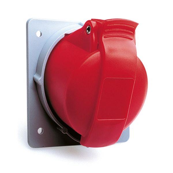 ABB 2CMA170021R1000 Seinäpistorasia 16 A, IP44 Punainen, 5-napainen