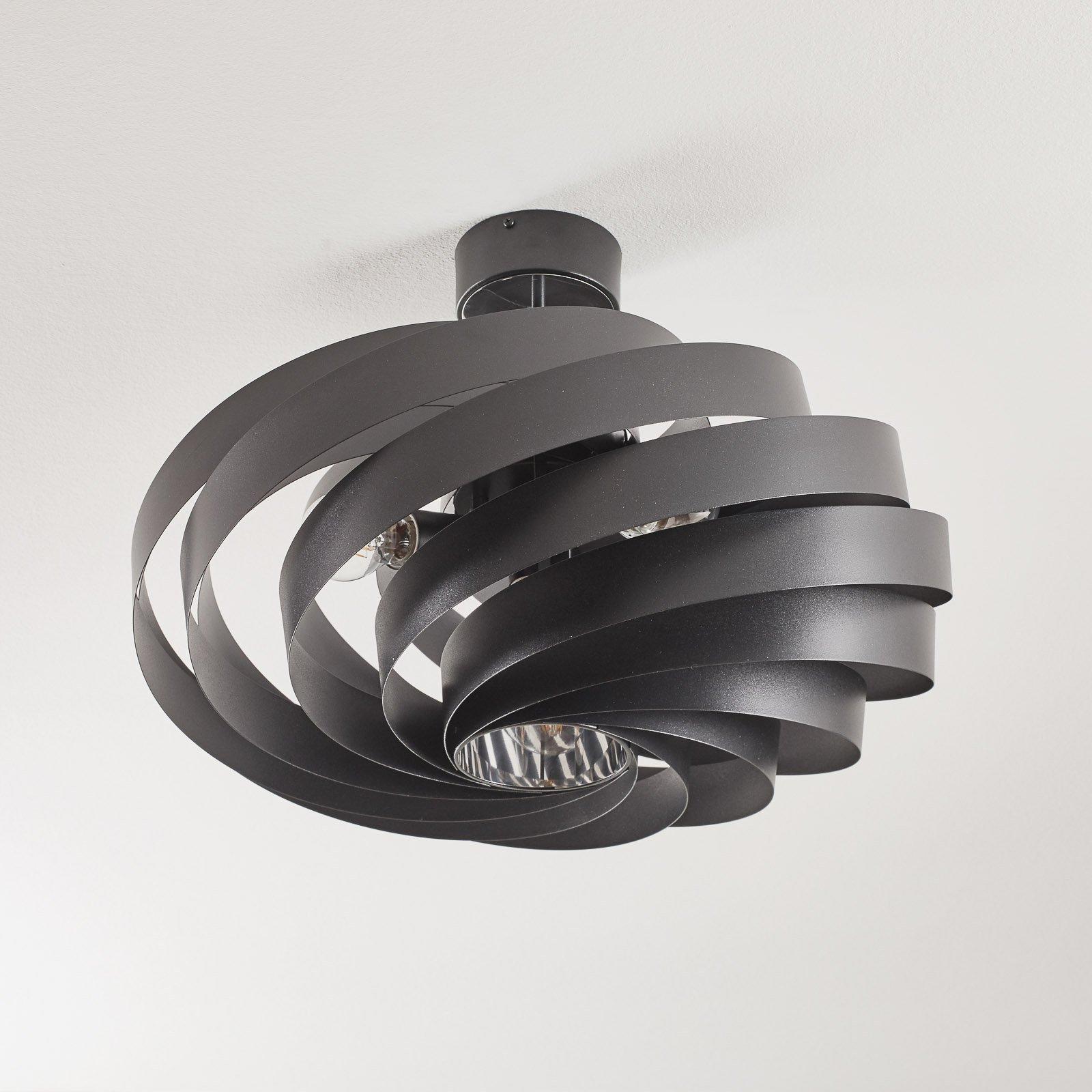 Taklampe Vento svart Ø 60 cm