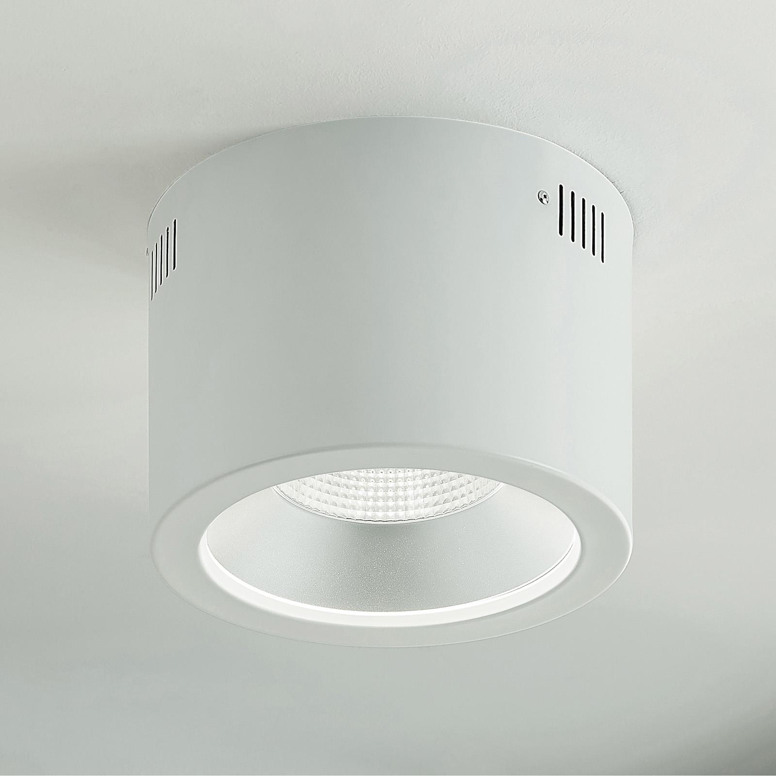 Arcchio Liddy -LED-alasvalo, valkoinen, Ø 23,2 cm