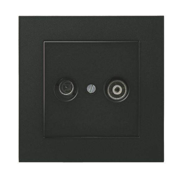 Elko EKO04004 Antennipistorasia liittimillä Musta, 1 dB