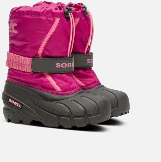 Sorel Childrens Flurry Vintersko, Deep Blush/Tropic Pink, 25