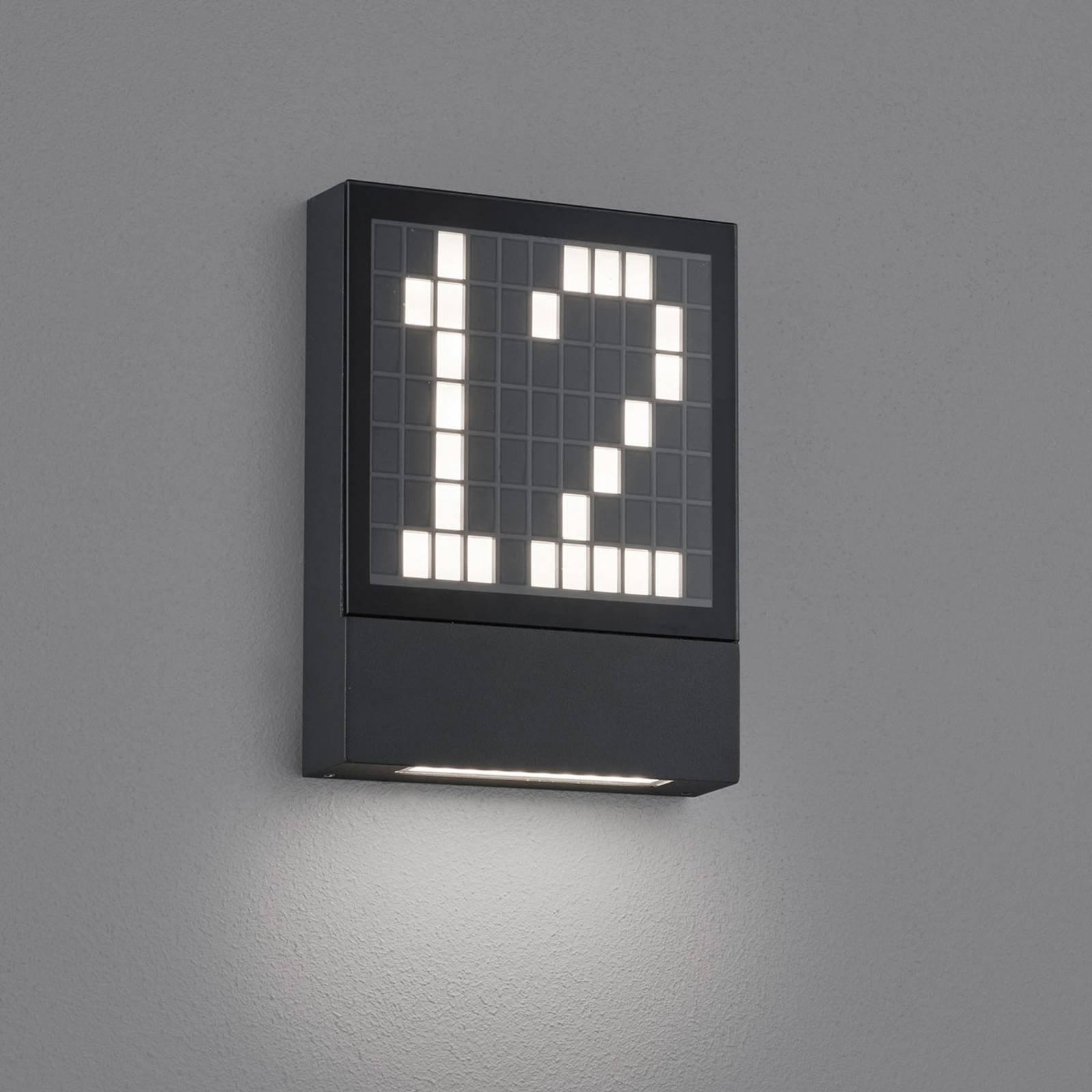Helestra Dial LED-husnummerlampe av aluminium
