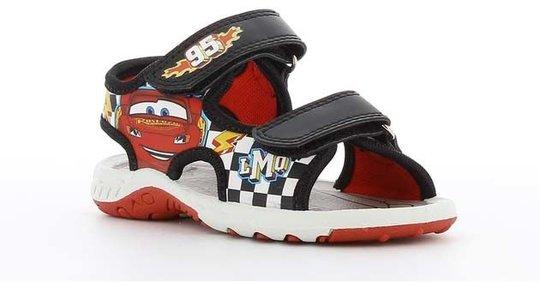 Disney Cars 3 Sandal, Black, 24