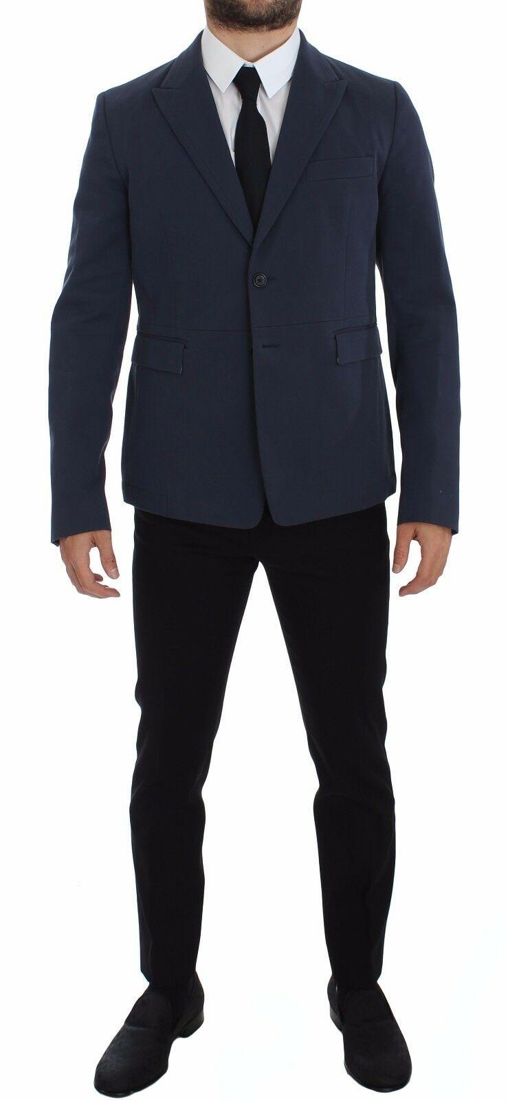 Dolce & Gabbana Men's Cotton Stretch Casual Blazer Blue GTT10069 - IT48   M