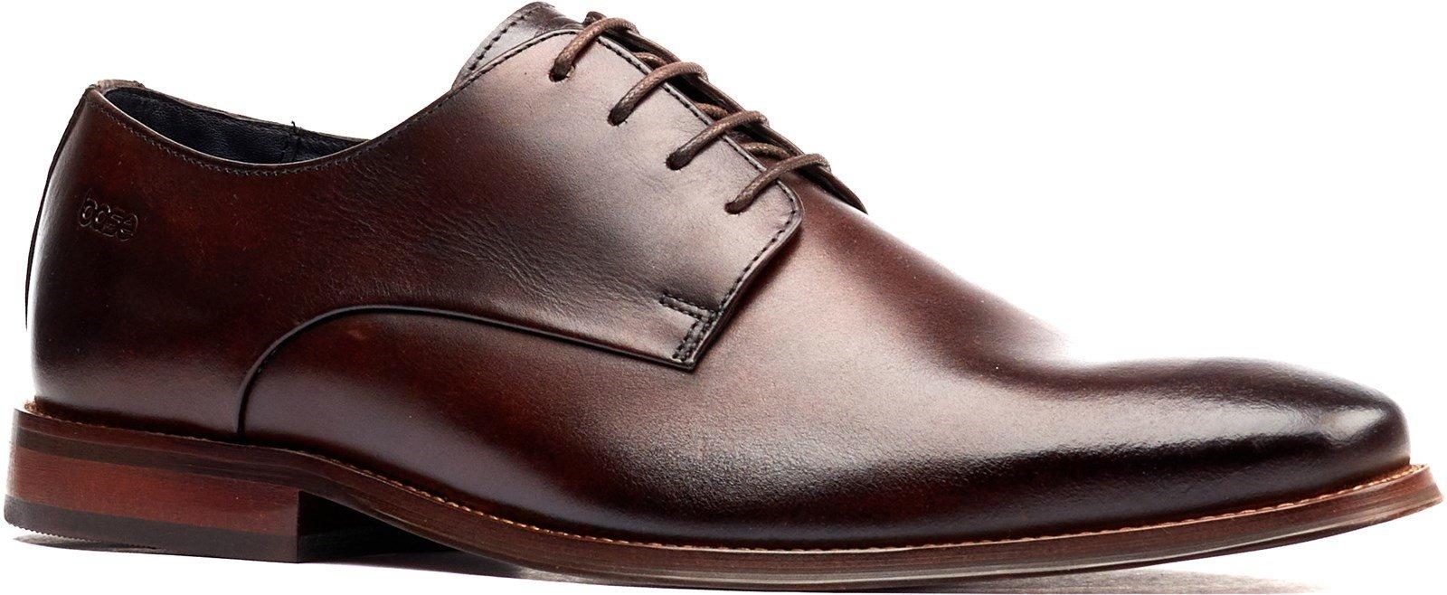 Base London Men's Marley Plain Toe Derby Shoe Brown 32250 - Brown 6