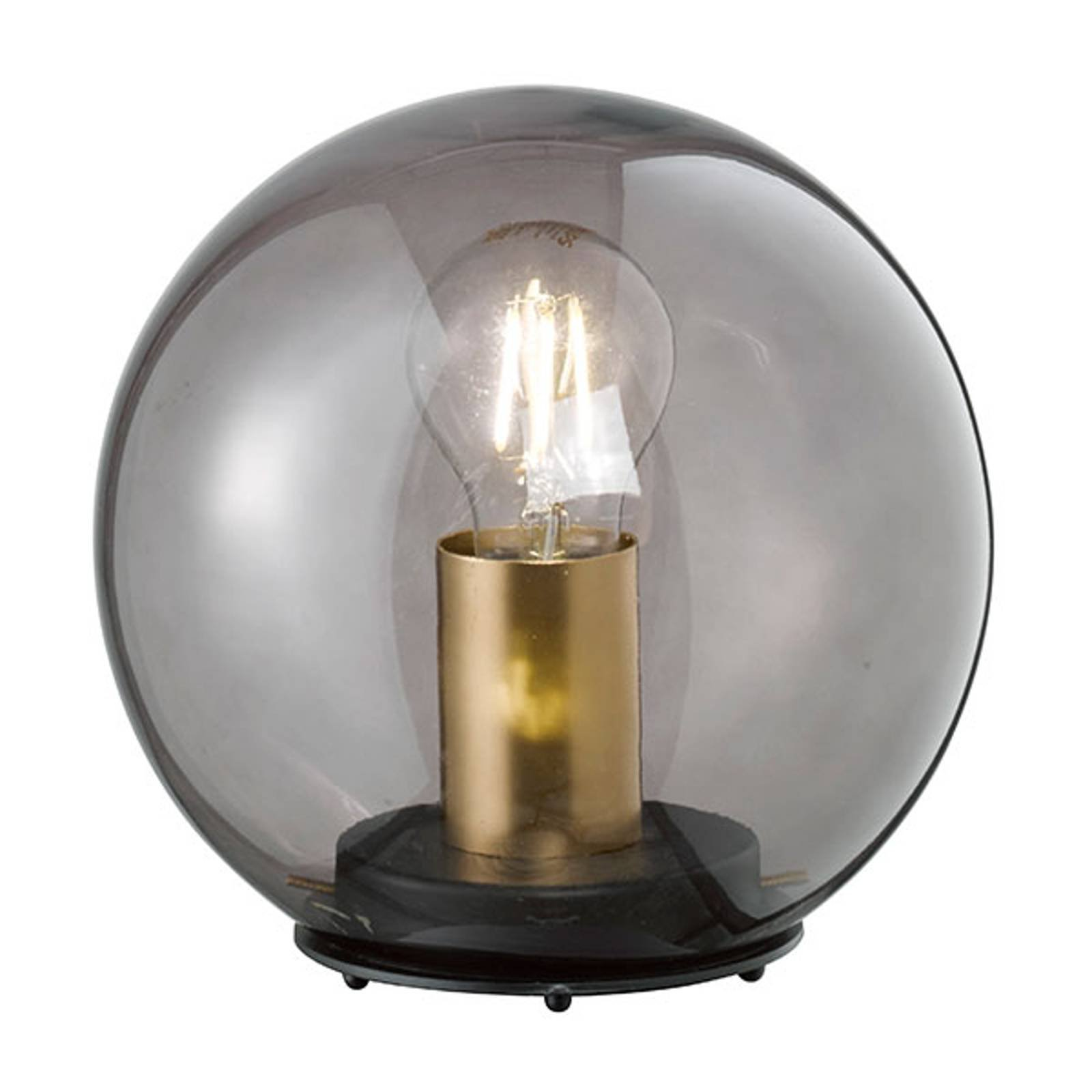 Bordlampe Dini med kuleskjerm av glass, 30 cm