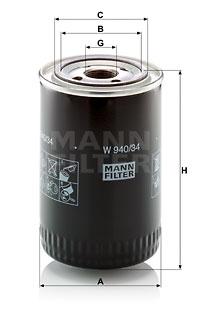 Öljynsuodatin MANN-FILTER W 940/34