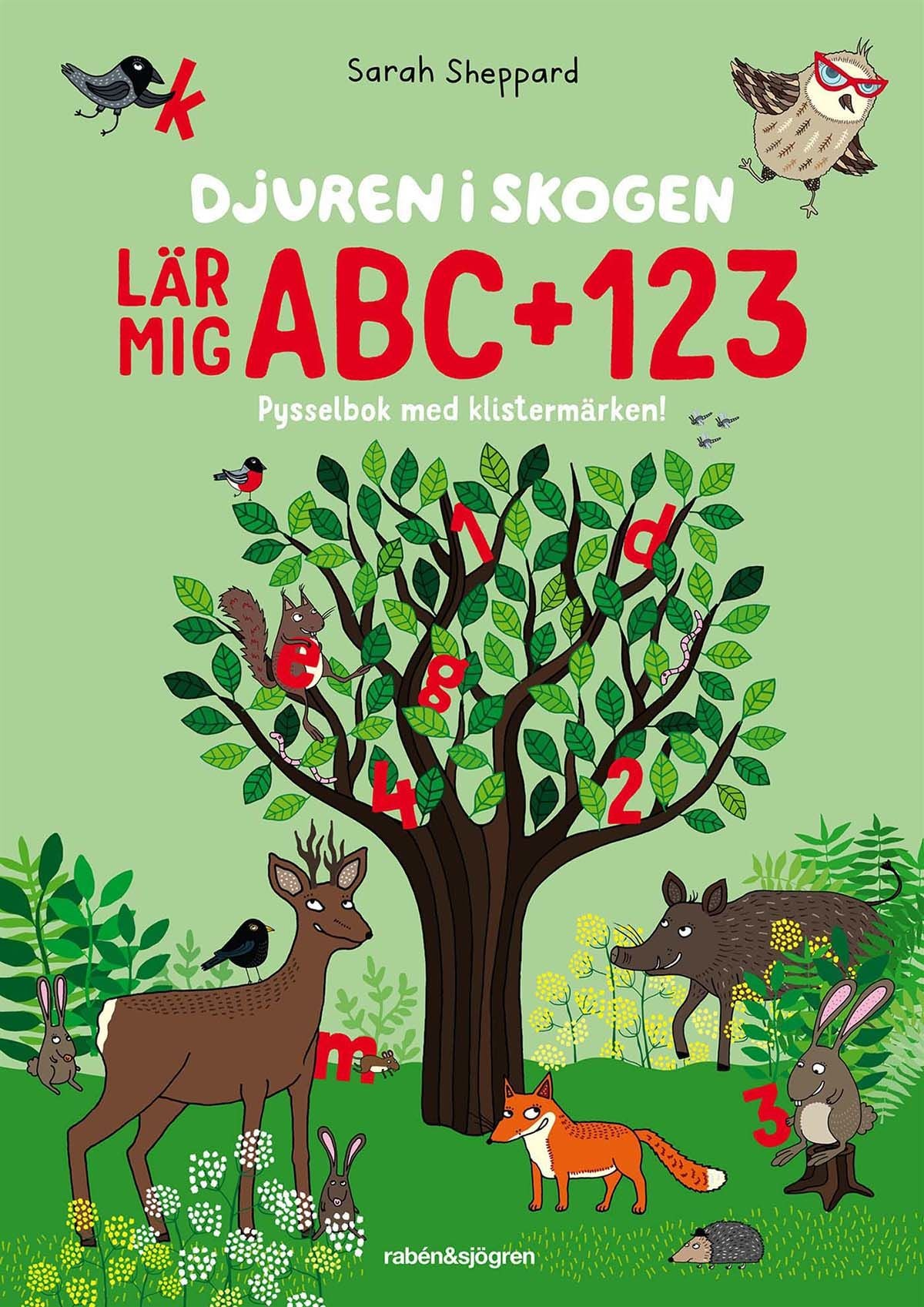 Rabén & Sjögren Djuren I Skogen Lär Mig ABC & 124