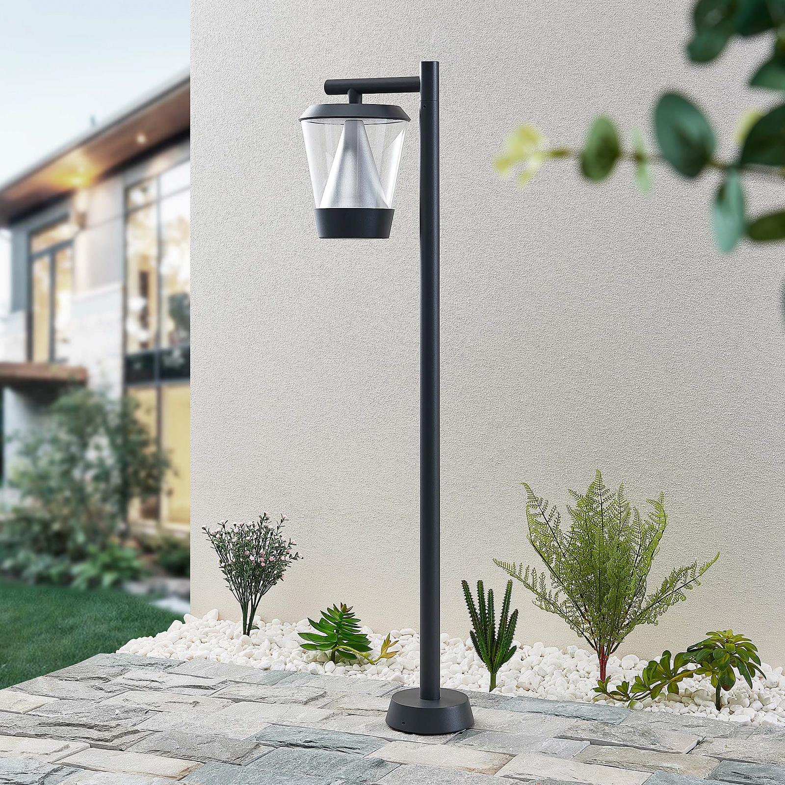 Lucande Tiany -LED-pylväsvalaisin, lyhty, 100 cm