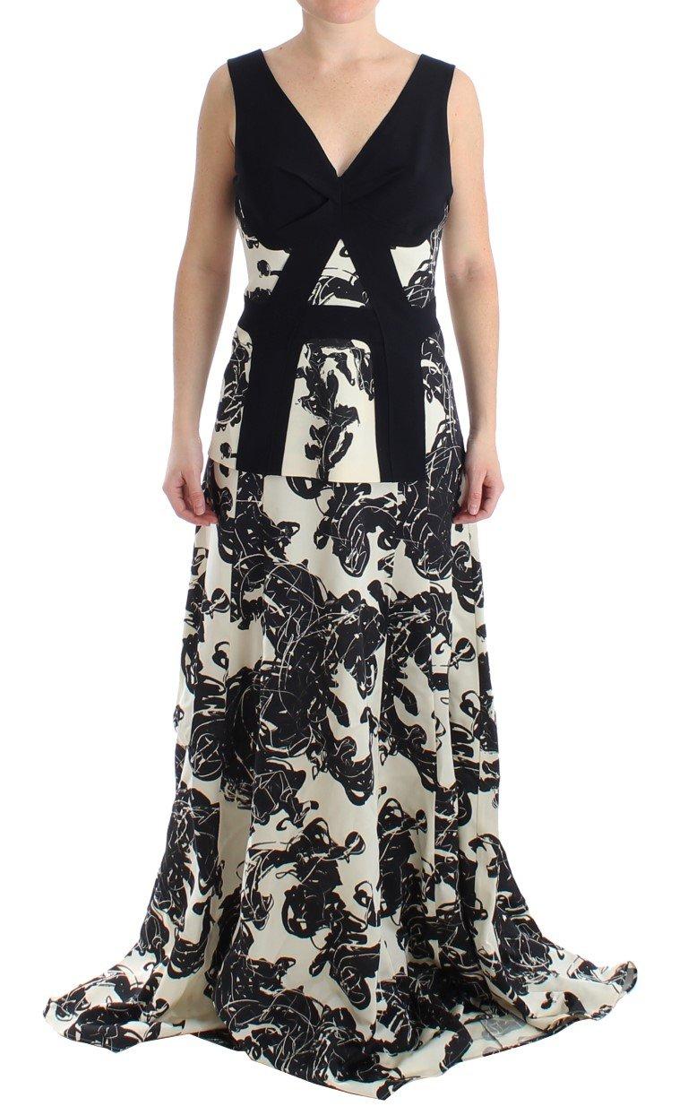 Cédric Charlier Women's Long Printed Gown Dress Multicolor SIG12695 - IT42 M