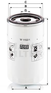 Öljynsuodatin MANN-FILTER W 1152/1
