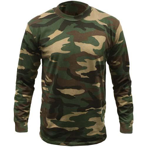Game Woodland Camouflage Long Sleeve T-Shirt - S