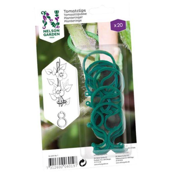 Nelson Garden 6019 Planteklips grønn plast, 6 cm, 20-pakning