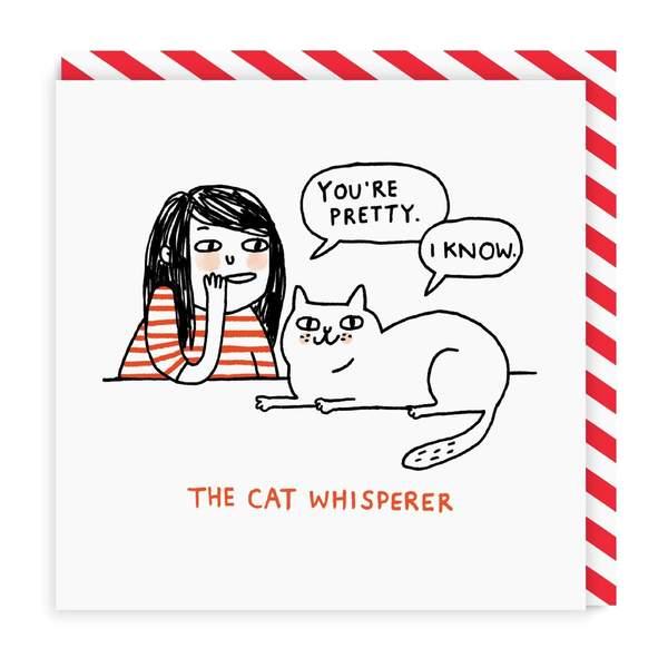 Cat Whisperer Square Greeting Card