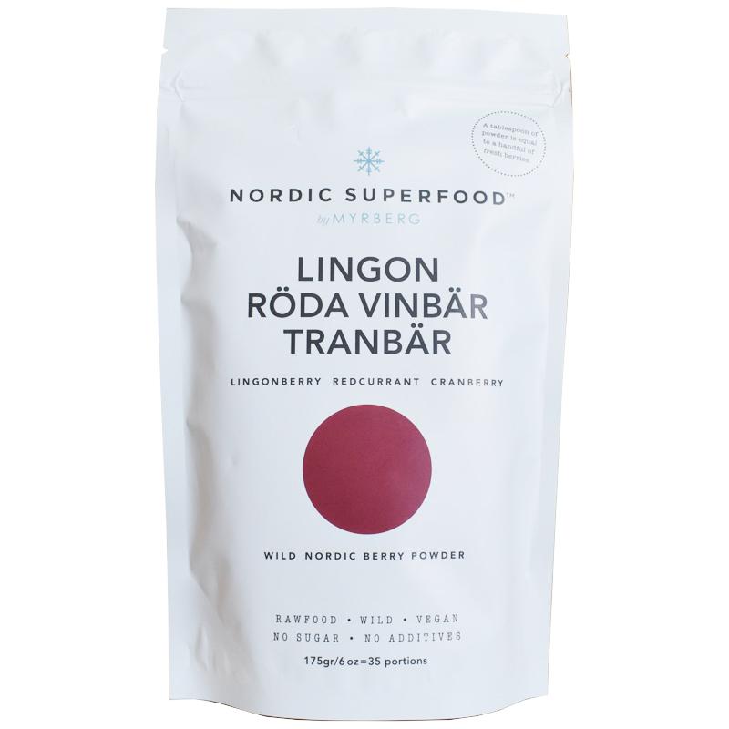 Power pulver lingon, röda vinbär & tranbär - 32% rabatt