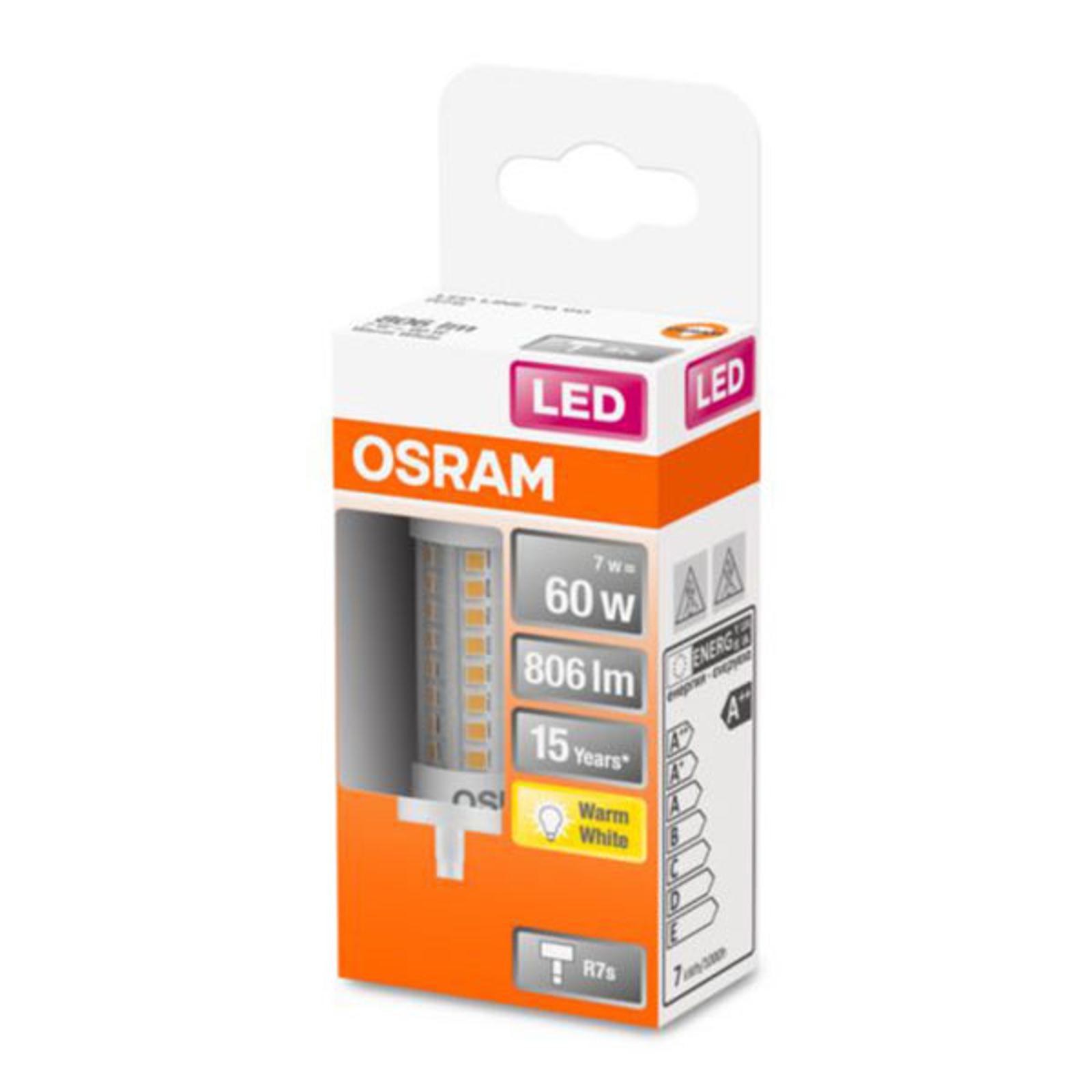 OSRAM-LED-lamppu R7s 7W 2 700 K