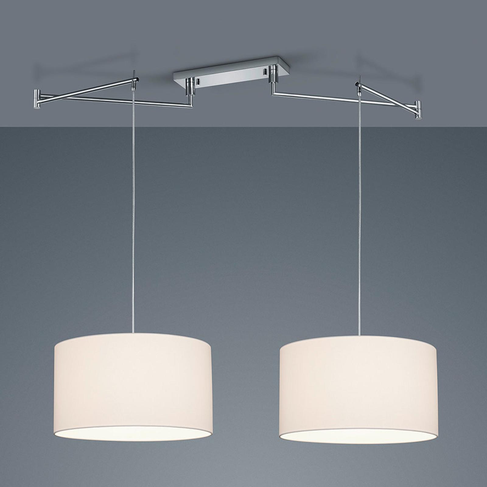 Helestra Certo -riippuvalo 2-lamp. valkoinen