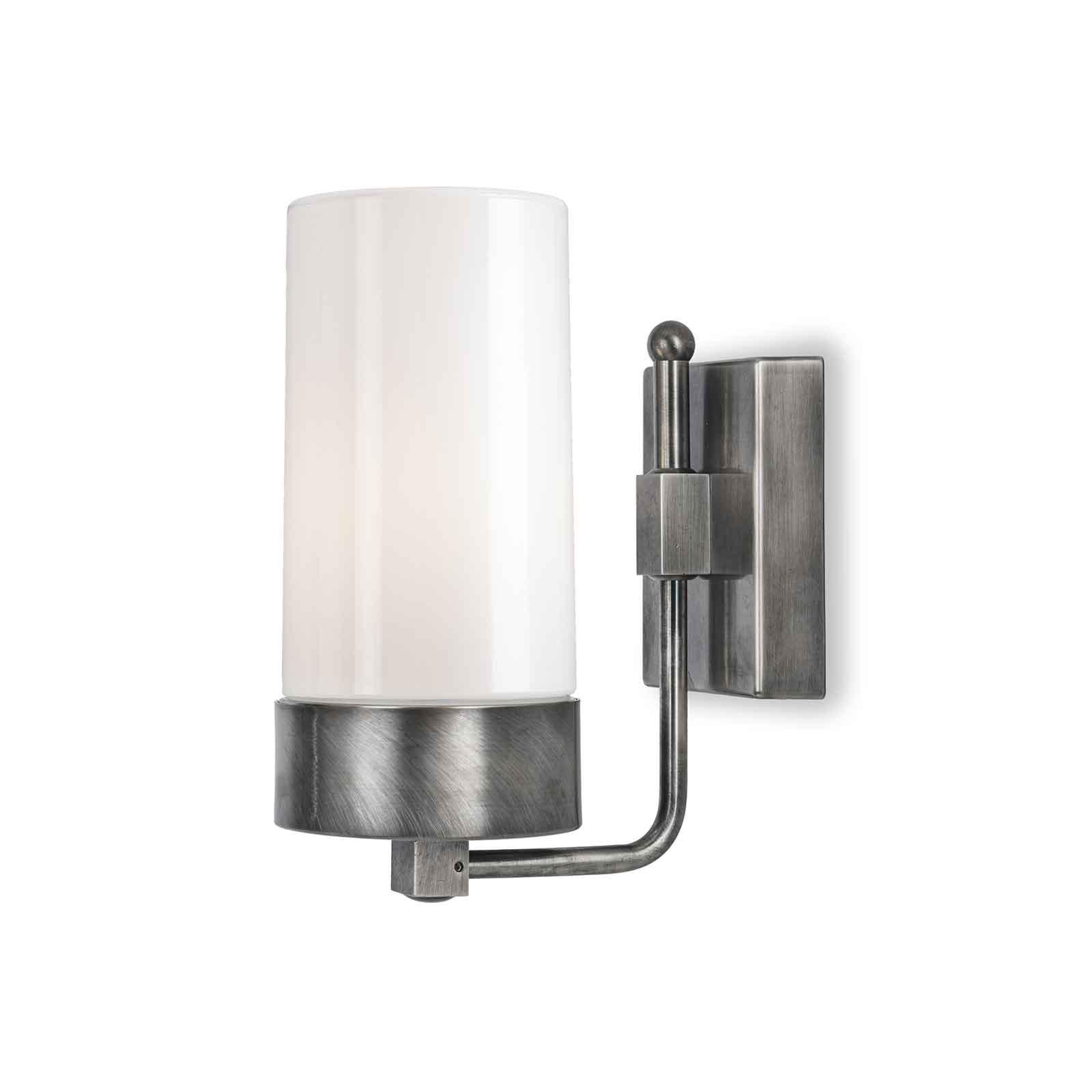 Silindar 3390 utendørs vegglampe, nikkel/opal