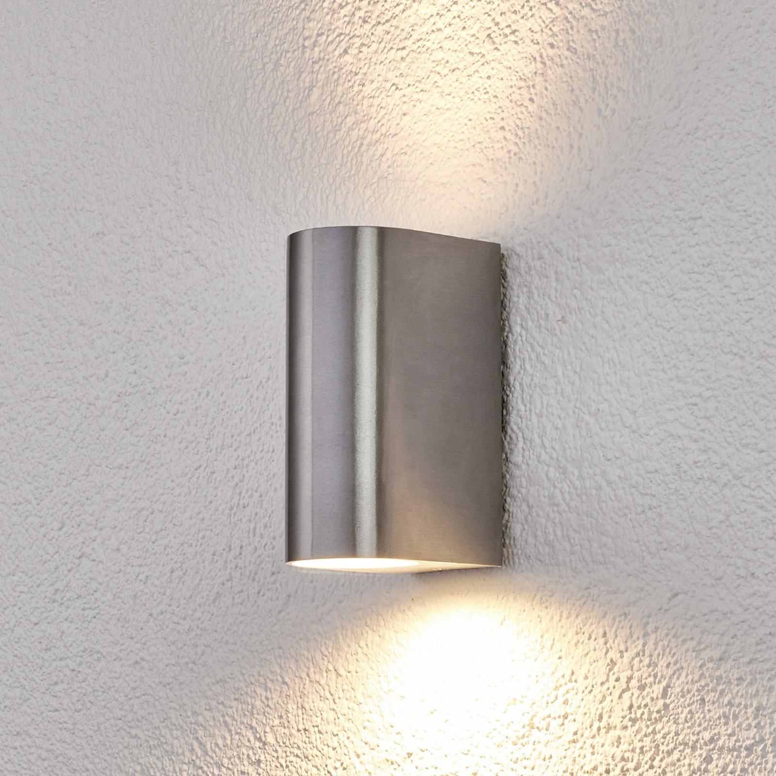 Utevegglampe Idris av aluminium med to lys