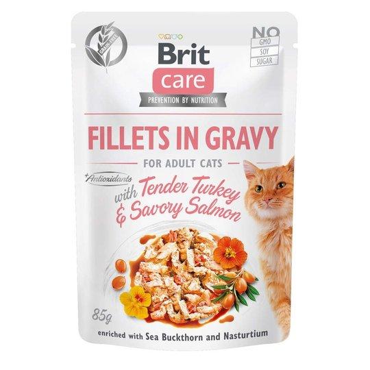 Brit Care Cat Adult Kalkon & Lax i Sås 85 g