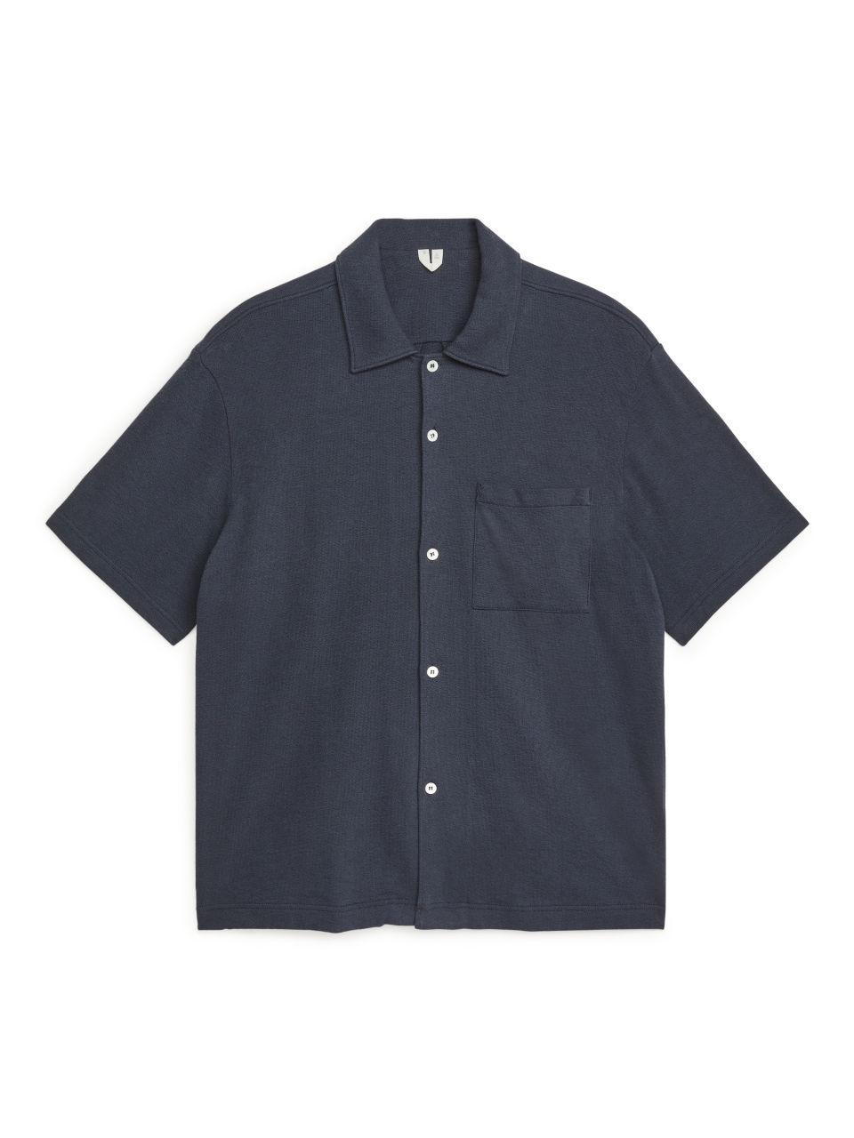 Bouclé Jersey Shirt - Blue