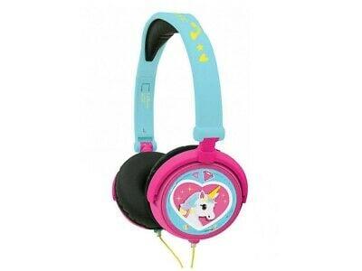 Lexibook - Unicorn Stereo Wired Foldable Headphone with Kids Safe Volume (HP017UNI)