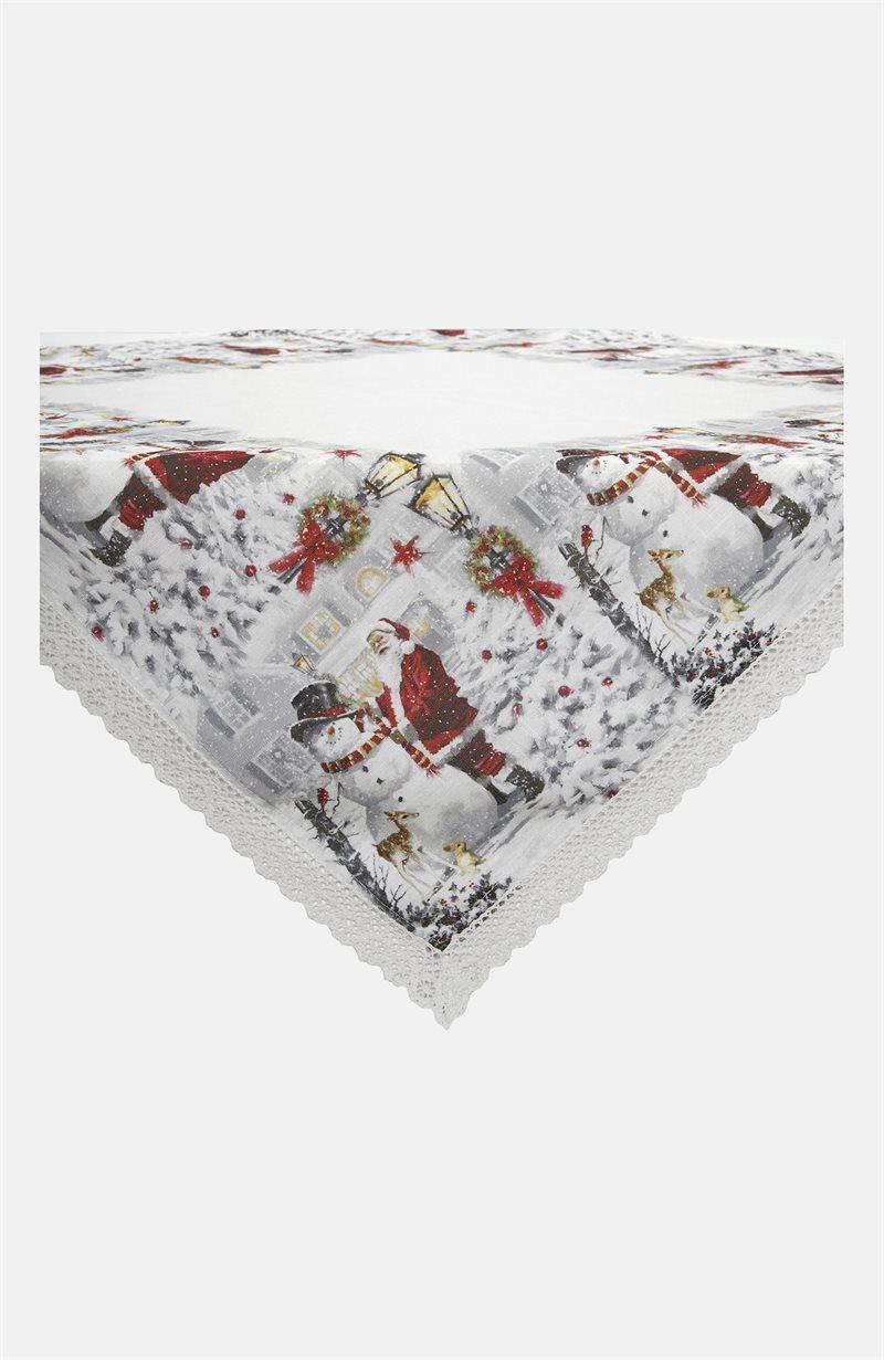 Julkväll pöytäliina joulupukki/lumiukko