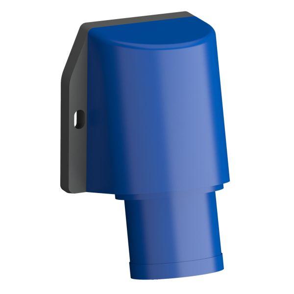 ABB 2CMA102353R1000 Vegginntak hurtigtilkoblet, vibrasjonsbestandig Blå, 32 A, 3-polet, IP44