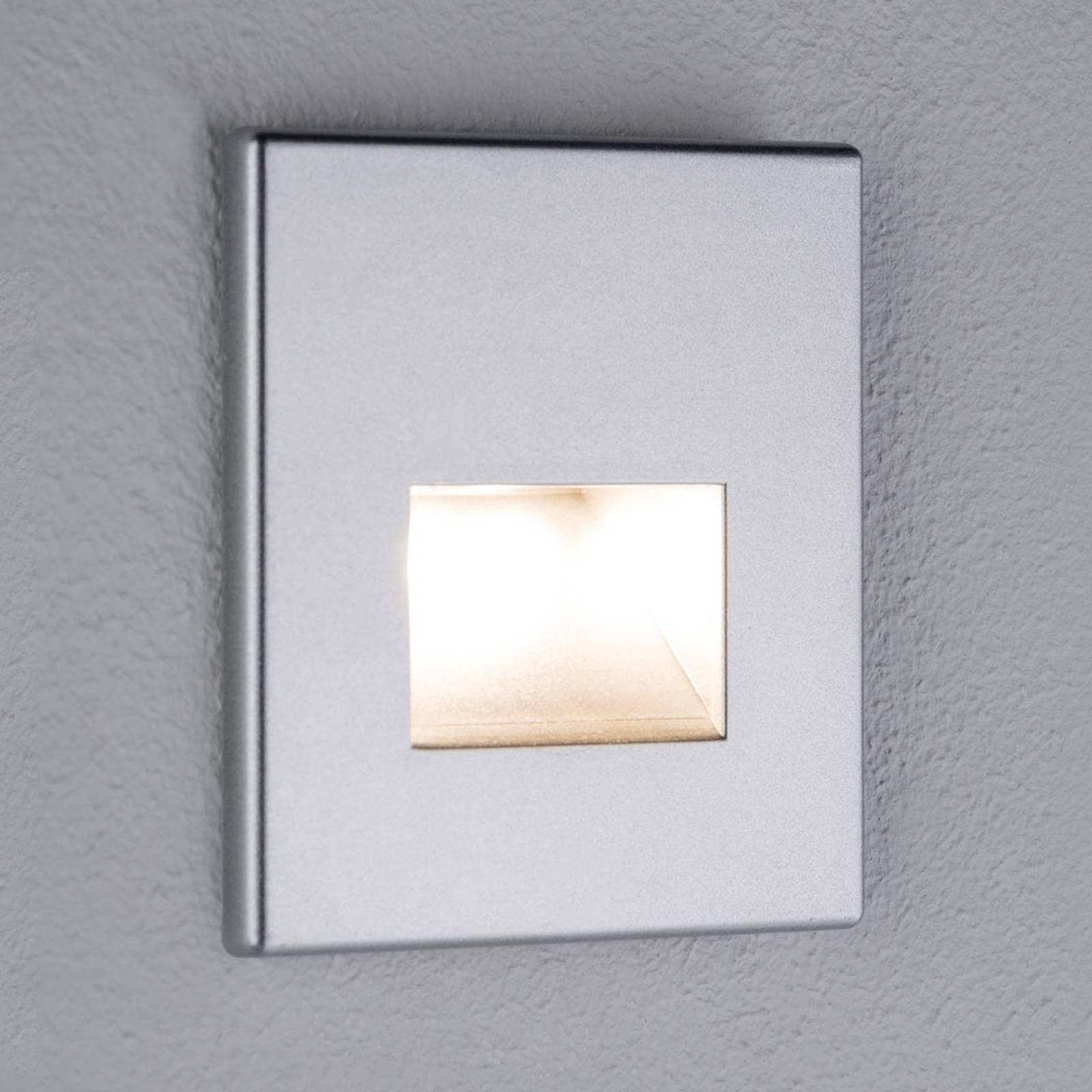 Paulmann LED-vegginnfellingslampe Edge, matt krom