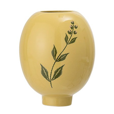 Vase Stone Yellow Ø12x15 cm