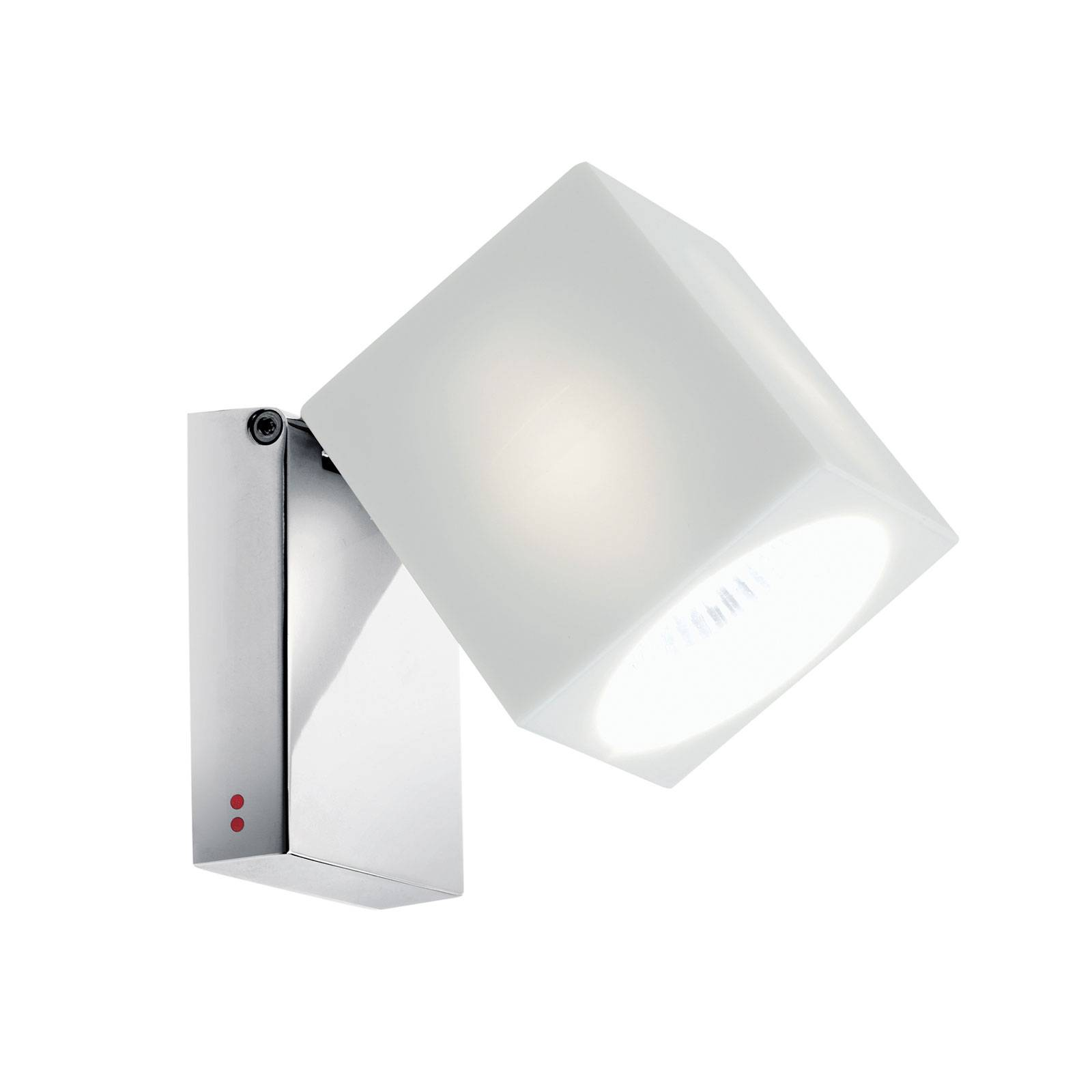Fabbian Cubetto -seinälamppu GU10 kromi/valkoinen