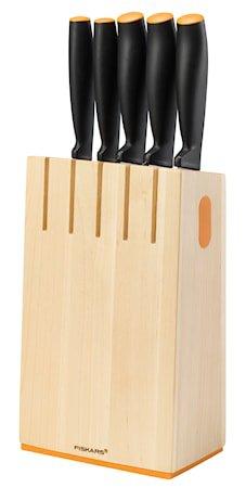 FF Knivblokk med 5 kniver, tre