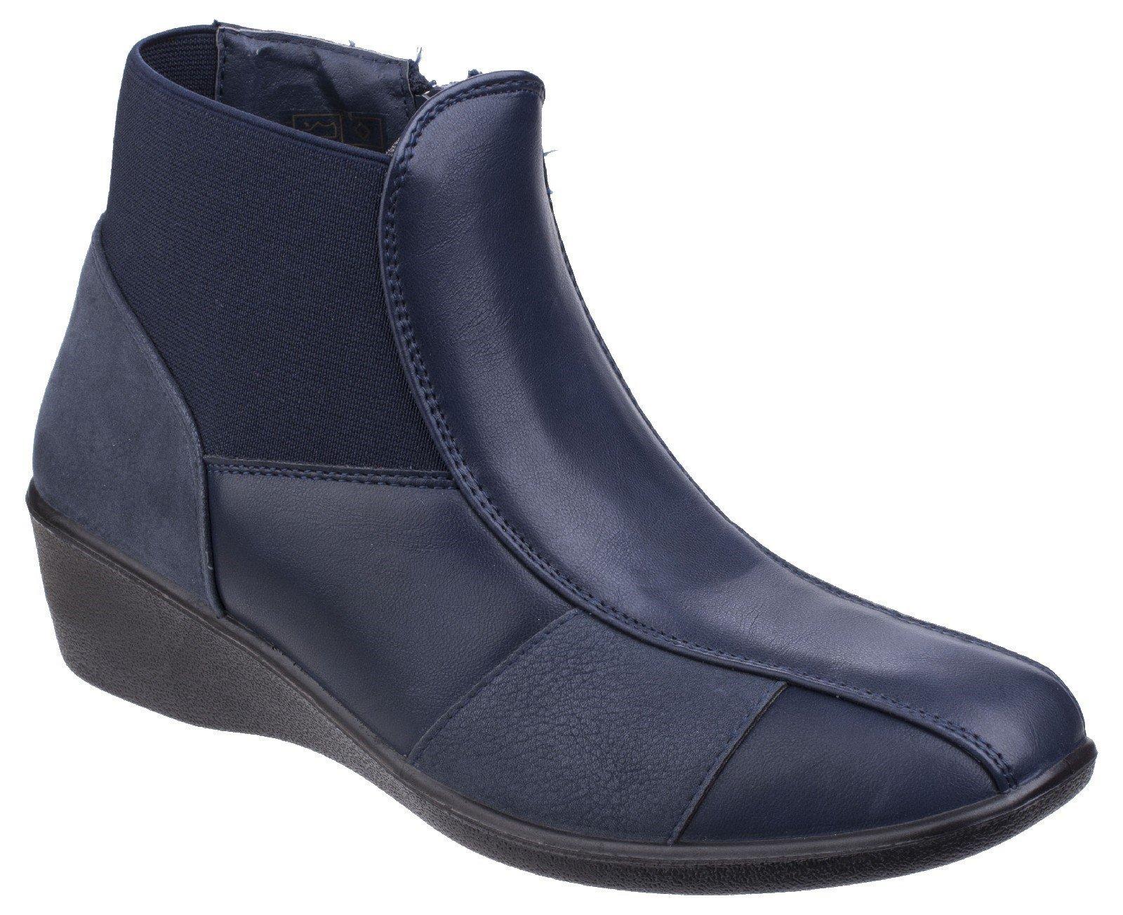 Fleet & Foster Women's Festa Ankle Boot Black 25560-42532 - Navy 7