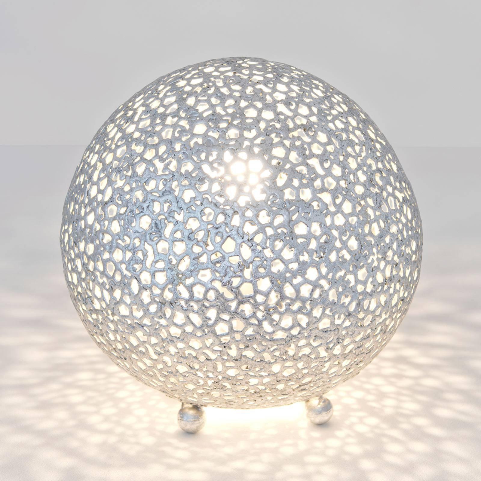 Bordlampe Lily Piccolo, Ø 33 cm, sølv