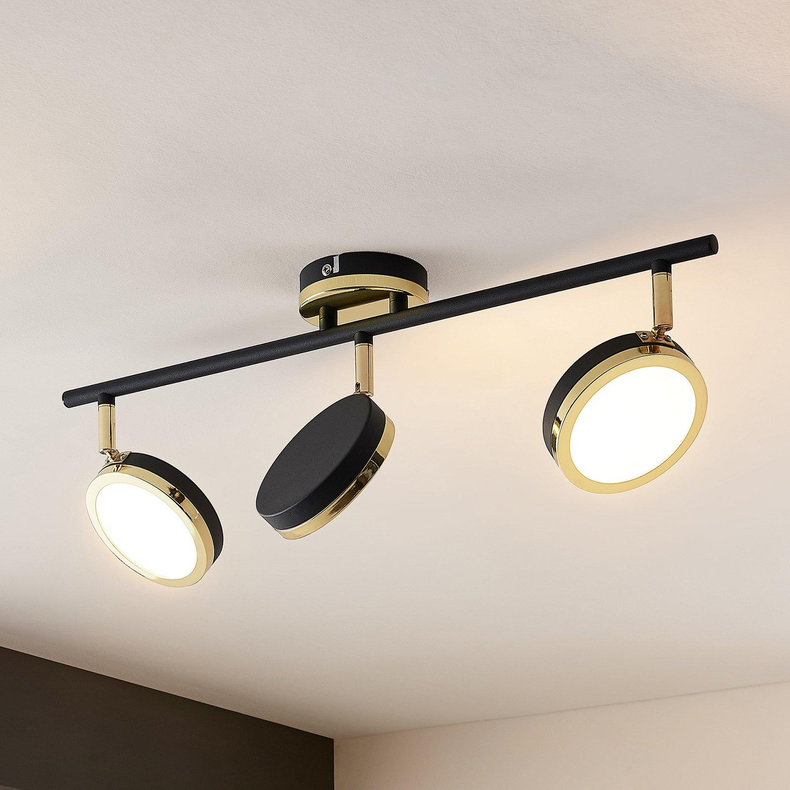 Lindby Alsani LED-takspot, 3 lyskilder