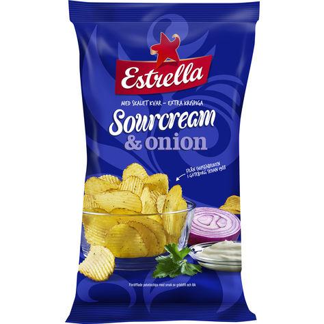 Estrella Sourcream & Onion Chips 175g