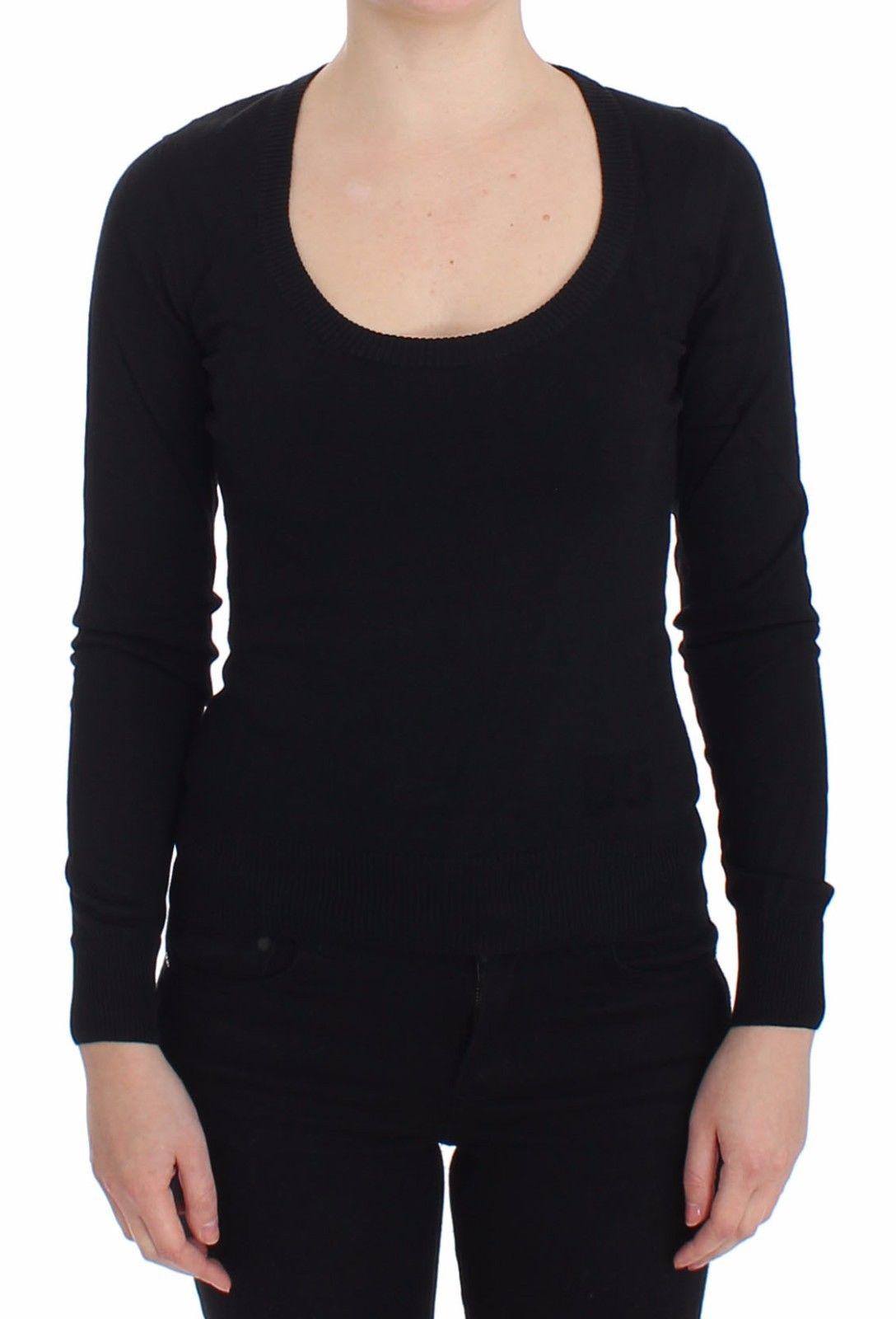 Dolce & Gabbana Women's Cashmere Crewneck Pullover Sweater Black SIG13363-3 - IT42|M