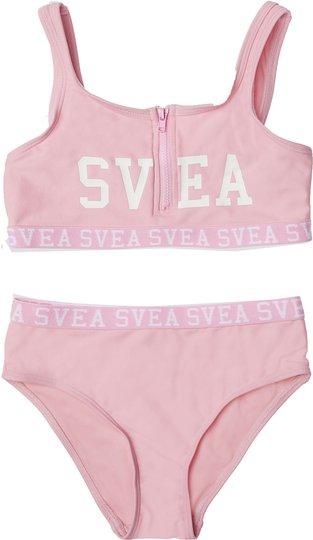 Svea Sportig Bikini Med Glidelås, Pink, 110