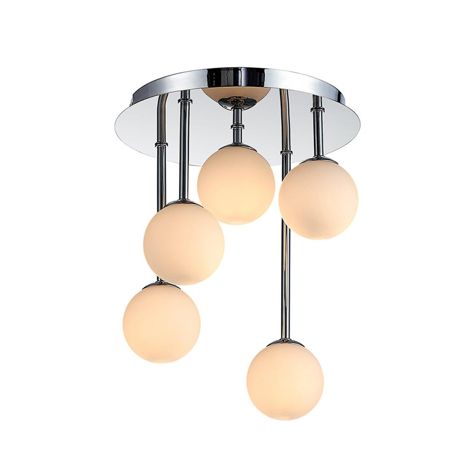 Lindby Chrissy taklampe, 5 lyskilder, 25 cm