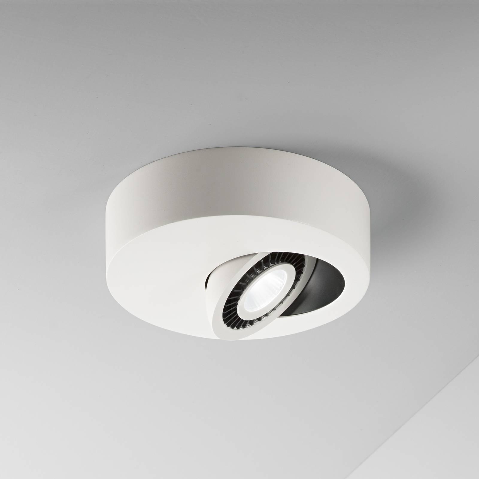 Egger Geo-LED-kattovalaisin LED-spotilla valkoinen