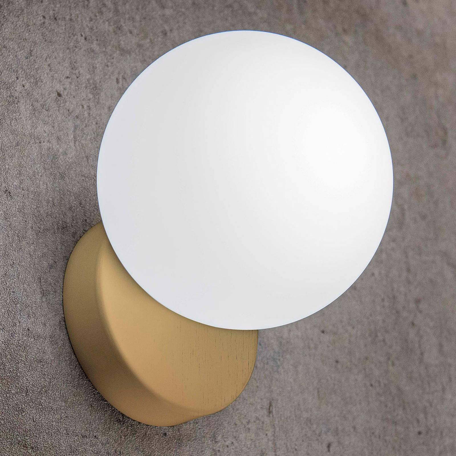 Seinävalaisin Tin Tin 1-lamppuinen satinoitu kulta