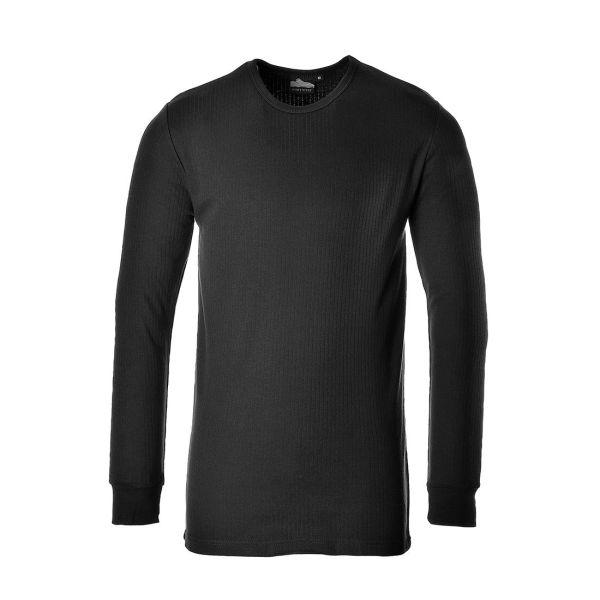 Portwest Termisk T-shirt svart, långärmad S