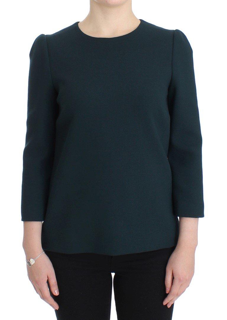 Dolce & Gabbana Women's Sleeve Top Green SIG13210 - IT42|M