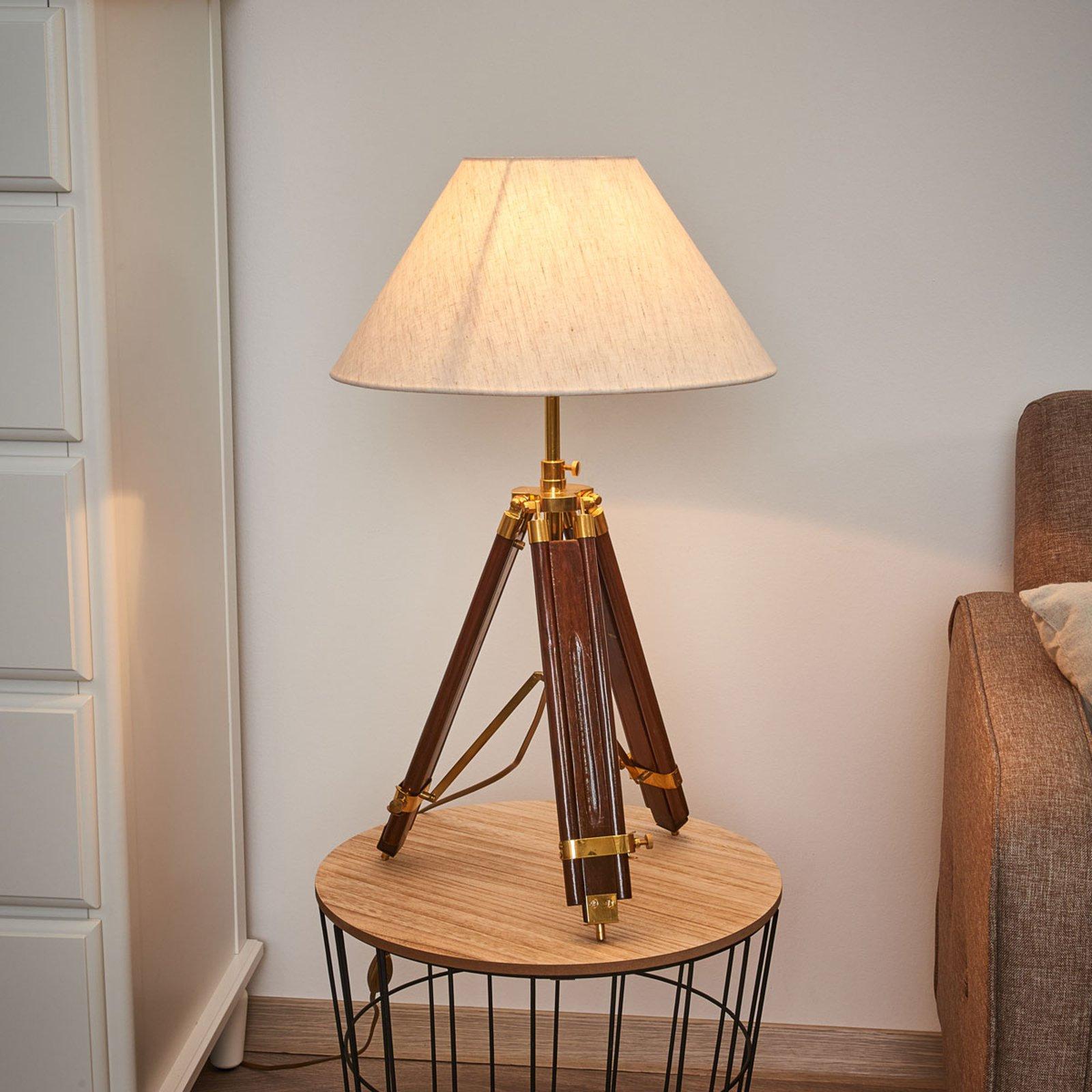 Bordlampe som blir til en stålampe - MINISTATIV